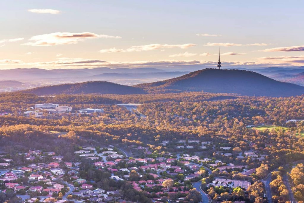 canberra property with black mountain tower in the background