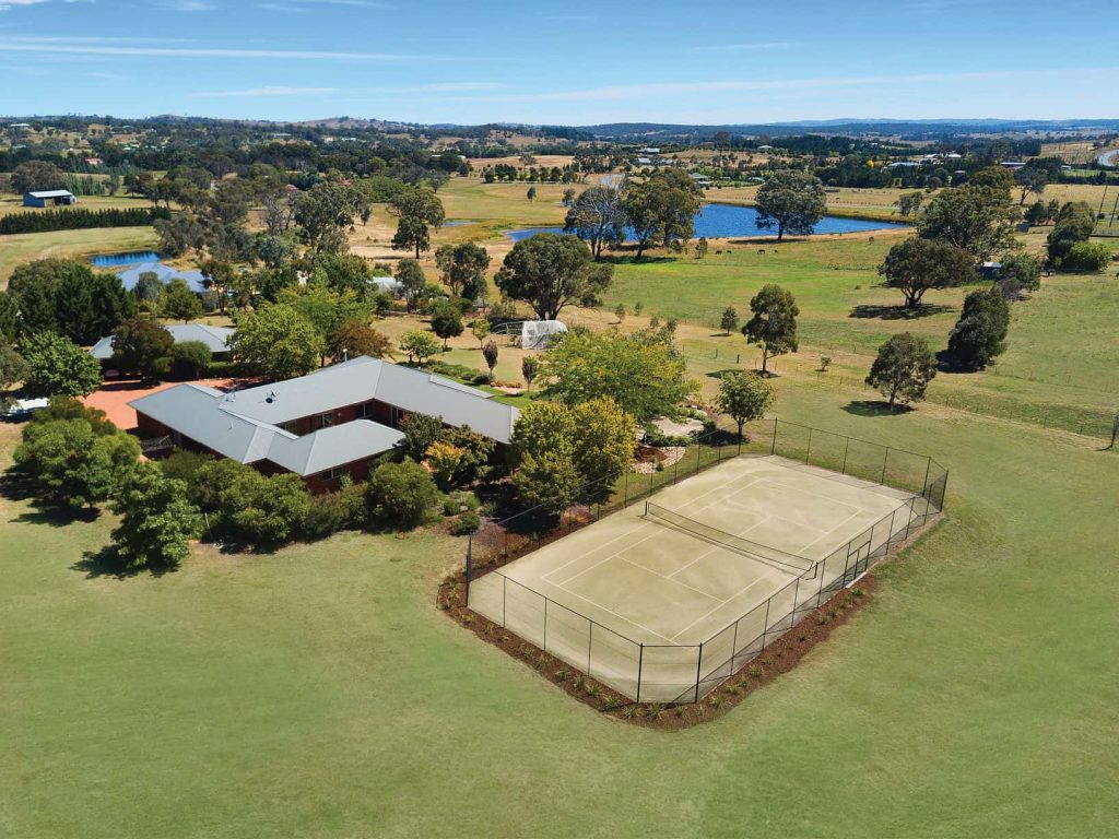 aerial shot of large property